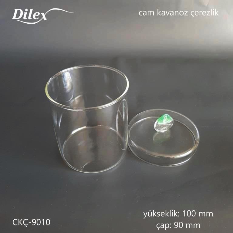 Dilex Yeşil Kulplu 100mm Cam Çerezlik