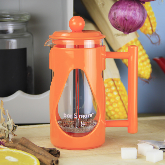 Bore More 350 ml Damla French Press Turuncu