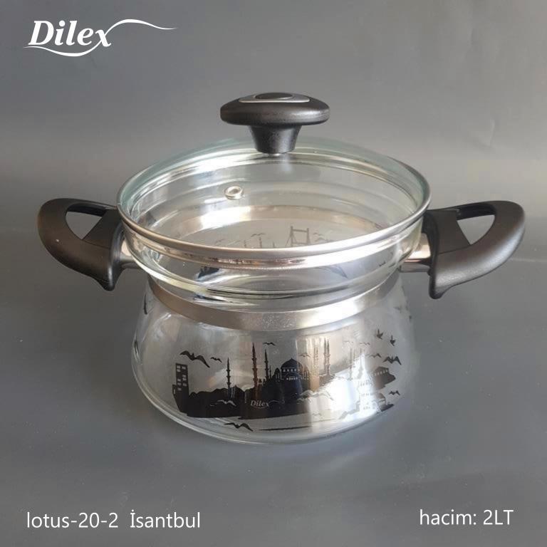 Dilex 2 Litre İstanbul Cam Tencere