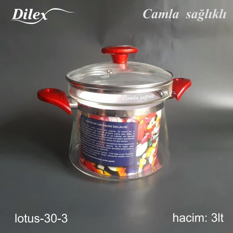 Dilex 3 Litre Cam Tencere