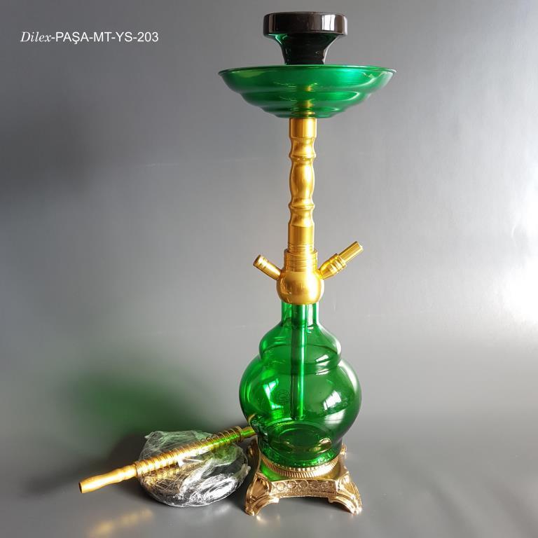 Dilex 1.5 Litre Paşa Yeşil Cam Nargile