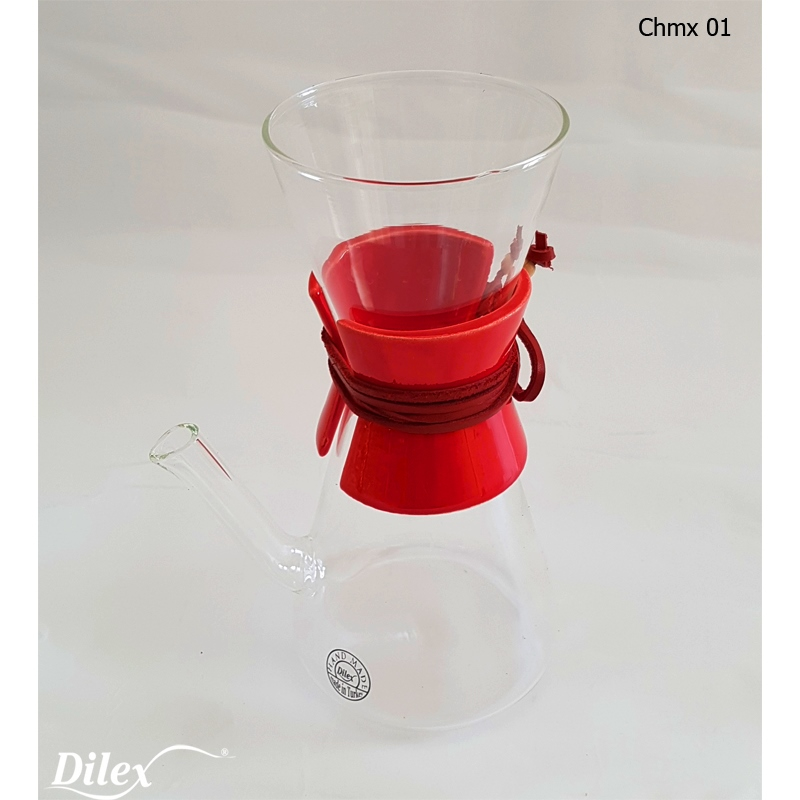 Dilex 0.45 Litre Kırmızı Cam Chemex