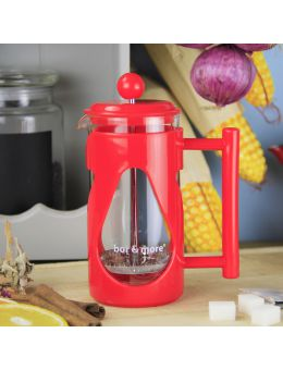 Bore More 350 ml Damla French Press Kırmızı