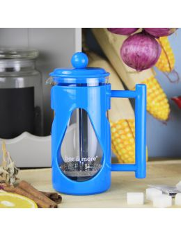 Bore More 350 ml Damla French Press Mavi